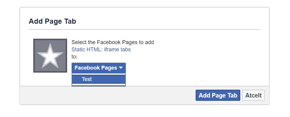 Adding application to FB page
