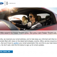 Ford resubscribe email