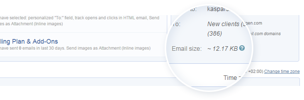 Email size and deliverability