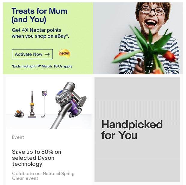 Example of Ebay's automated email