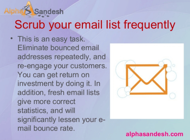 Scrub your email list