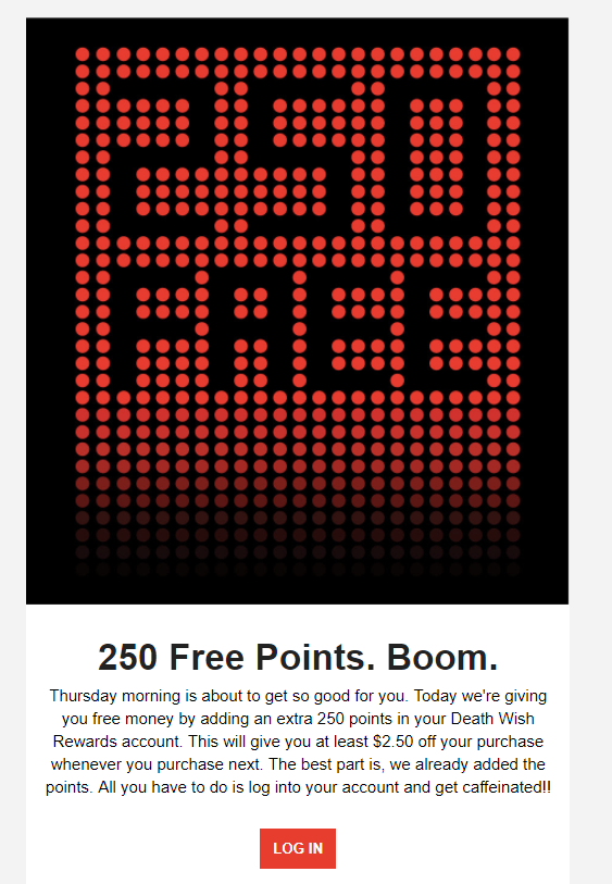 re-engage email with points strategy