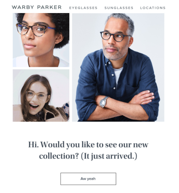 re-engage email introducing something new
