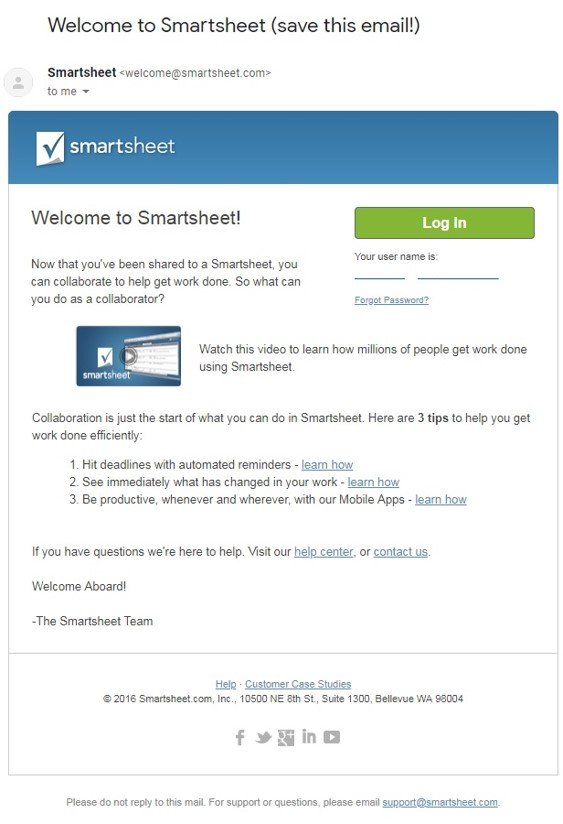 example of welcome email drip